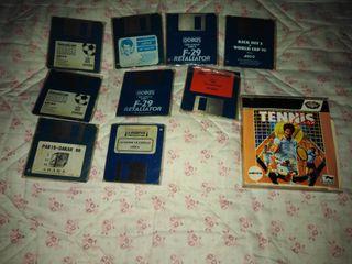 Juegos Commodode amiga sin caja originales.