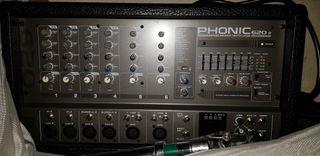 Mesa de Mezclas Phonic620R Powerpod Mixer With USB