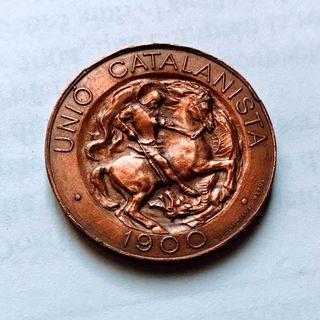 Preciosa moneda 10 céntimos Unió Catalanista