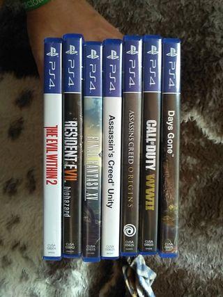 Vendo juegos ps4 nuevos