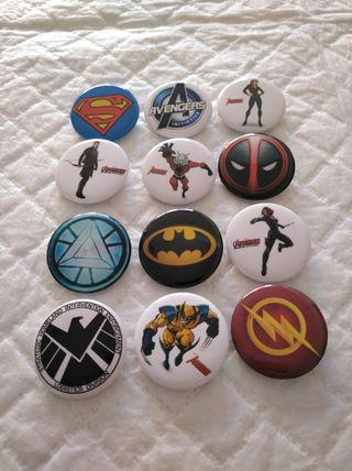superhéroes pins aguja chapas lote