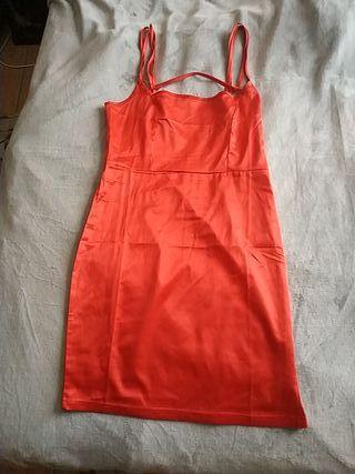 Vestido Satén Rojo Talla S NUEVO