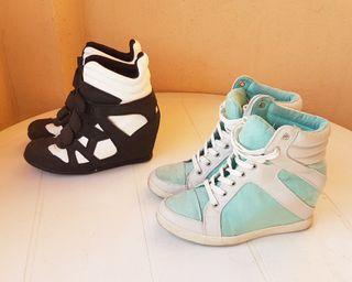 Zapatos zapatillas cuña tacón mujer plataforma