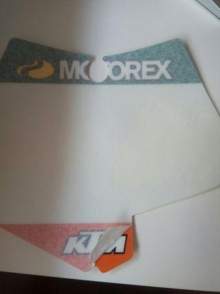 Pegatina portanumeros KTM