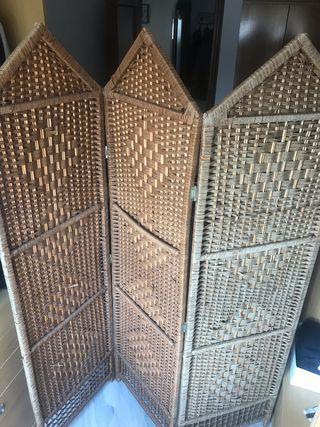 Biombo divisor de bambú