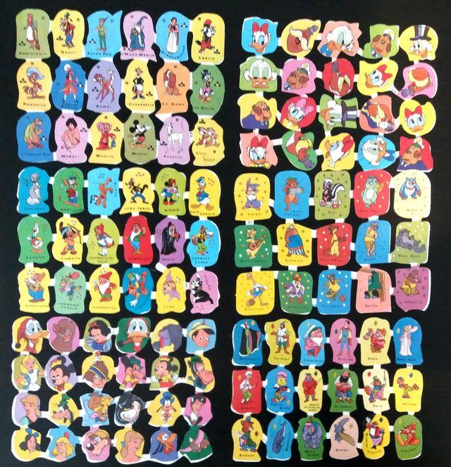 Lote 12 laminas cromos troquelados Edivas
