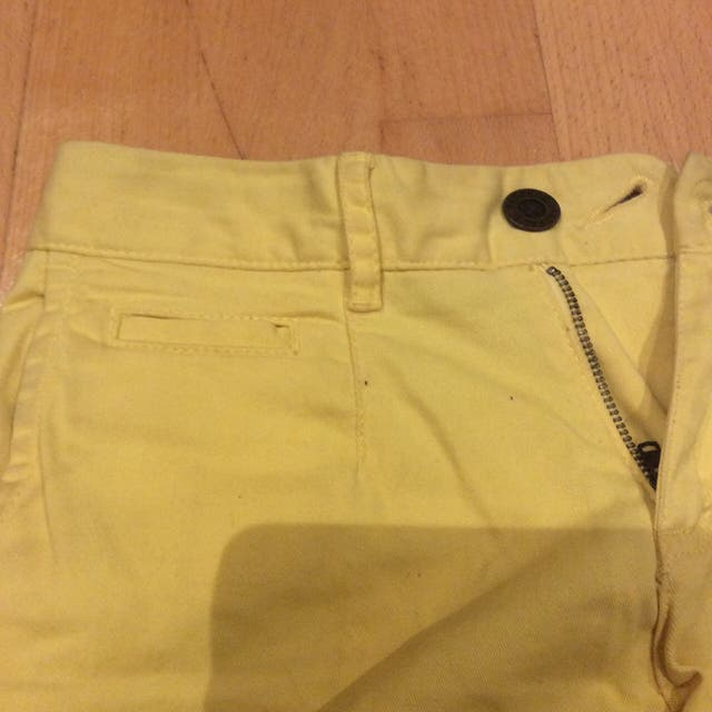 Fat Face cropped trousers - yellow