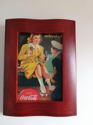 Cuadro Coca Cola miniatura
