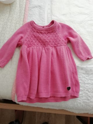 Vestido para niña, talla 68, rosa