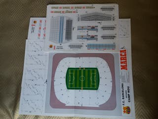 Maqueta Camp Nou para montar. FC Barcelona