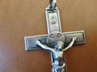 crucifijo plata grande