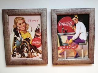 Cuadros Coca Cola vintage