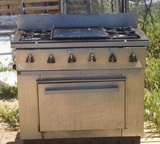 cocina de gas industrial