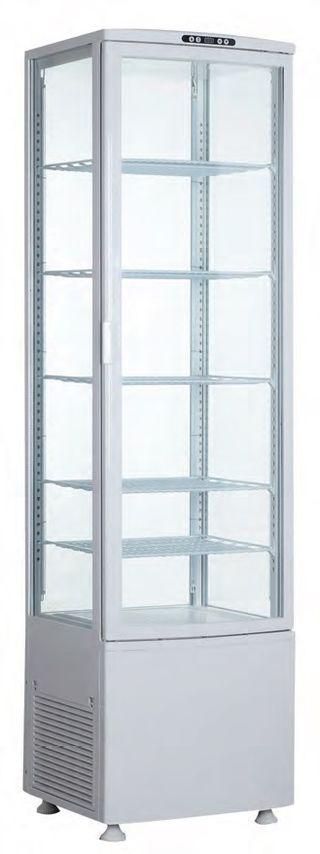 Armario expositor refrigerado 4 caras cristal