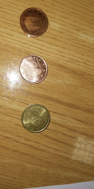 moneda de 2cts con el troquel de 10 cts