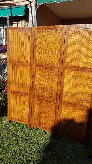 Biombo de madera