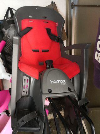 silla bebe para incluso bici doble o pequeña