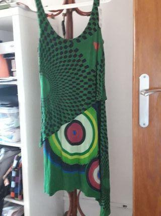 vestido desigual talla L