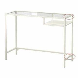 ESCRITORIO VATTSJO BLANCO DE IKEA