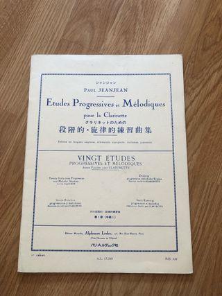 Etudes Progressives et Mélodiques clarinete