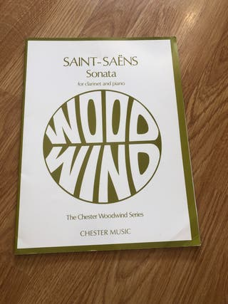 Saint-saëns sonata para clarinete y piano