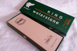 Piedra agua de afilar Japonesa King 6000