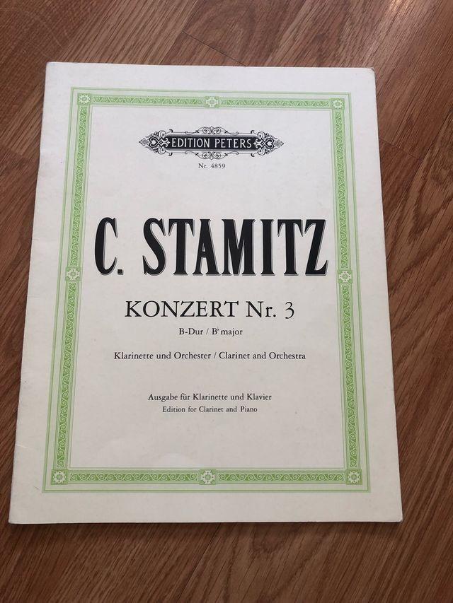 C.Stamitz konzert Nr.3 para clarinete