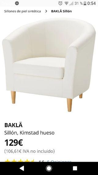 sillón ikea color crema