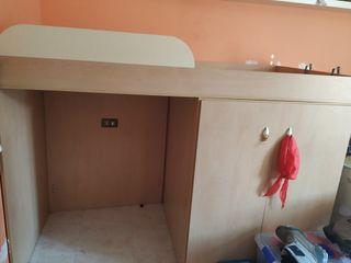 cama doble con armario