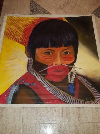 cuadro pintado a olio comprado en brasil...