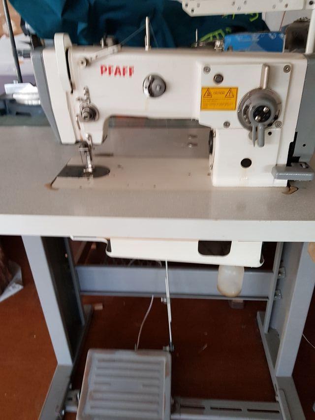 maquina coser industrial Pfaff triple puntads