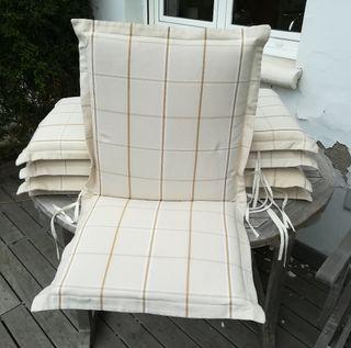 Cojines sillas jardin. Regalo mesa+sillas.