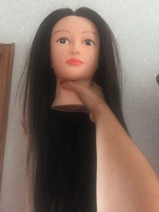 Cabeza de practica de peluqueria