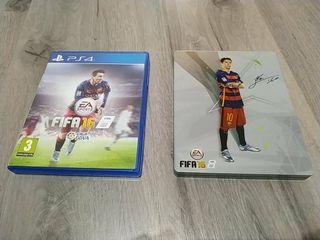 FIFA 16 + Steelbook PS4 PS3 PS2 PS1