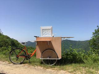 Cargo bike food truck