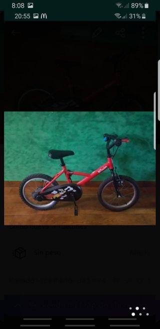 """bicicleta 16 """" + ruedines"""