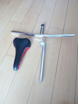 Manillar,potencia,sillin y tija bici MTB