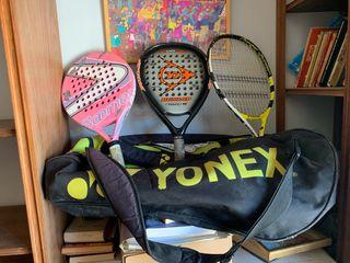 Raquetas de padel para niño- adolescente y bolsa