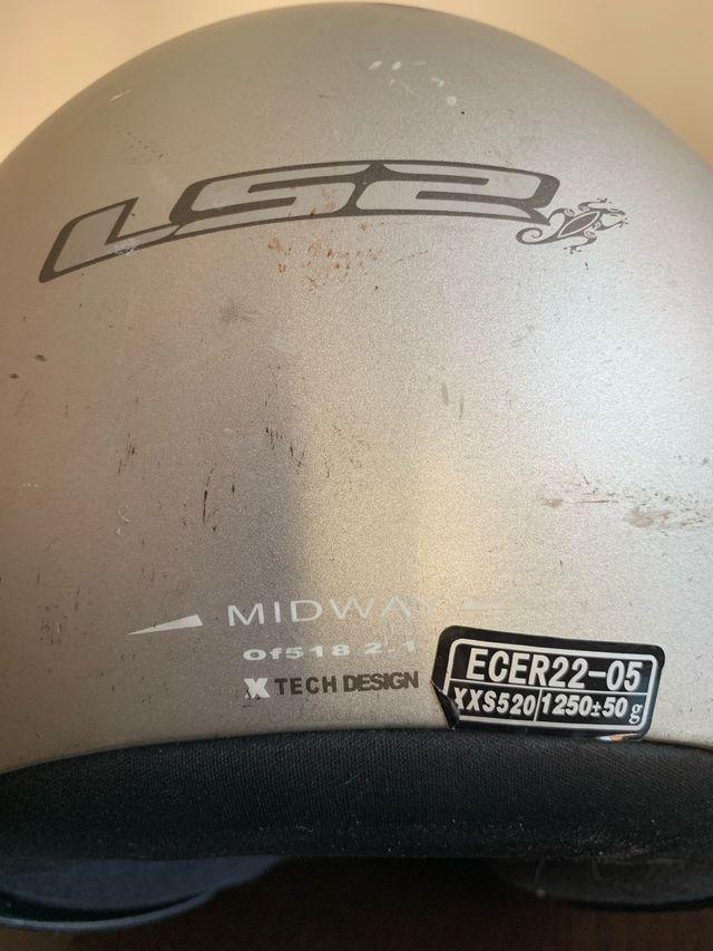 Casco Moto LS2 talla XXS para niños