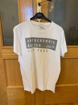 Camiseta ABERCROMBIE blanca talla L