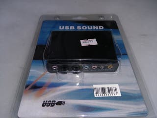 Tarjeta de sonido externa 6 canales