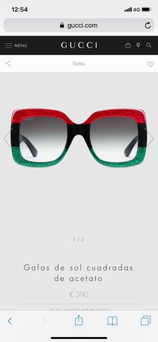 b09b13a8b9 Gafas Gucci mujer de segunda mano en WALLAPOP