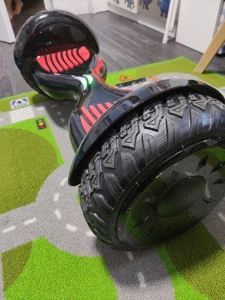 Hoverboard 10 pulgadas, rueda todo terreno.