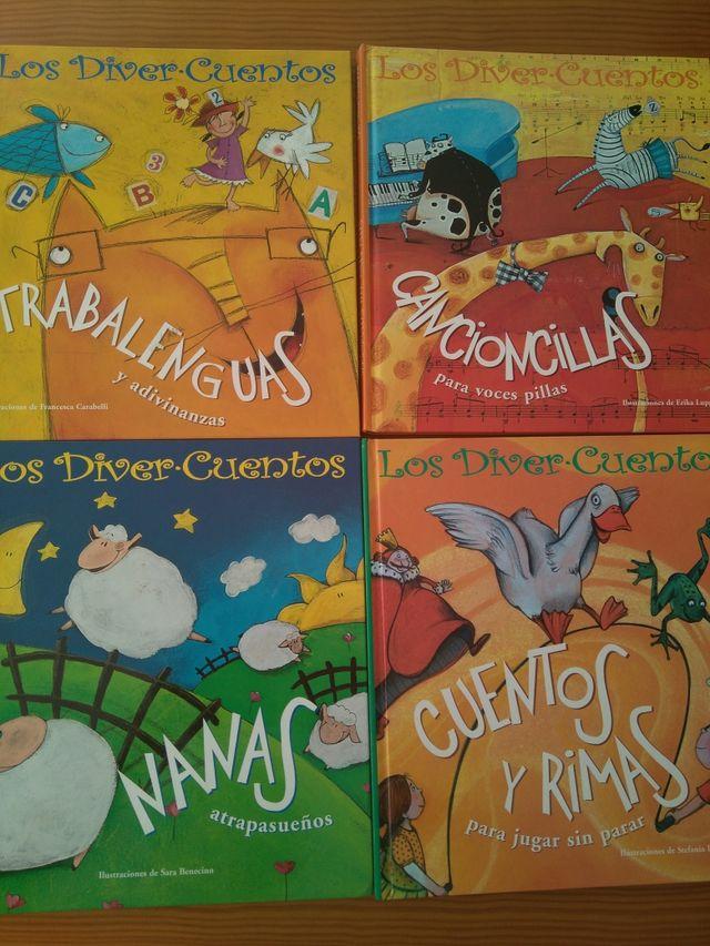 Colección Los Diver Cuentos 4 libros