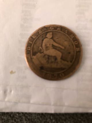 Moneda Diez Gramos 1870