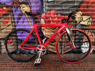 bicicleta fixie leader 725 horquilla carbono