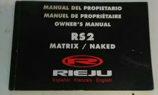 Manual de instrucciones rieju rs2