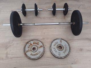 Conjunto de pesas