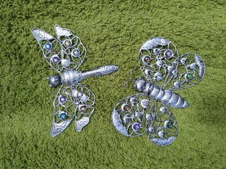 Libelula y Mariposa