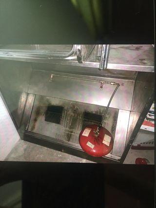 Máquina de pollo campana horno mesa